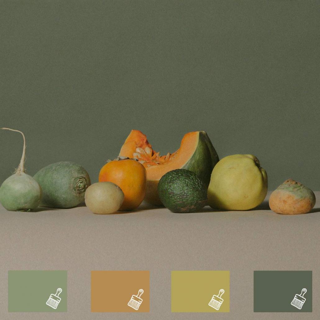kleurpallet groen 2021